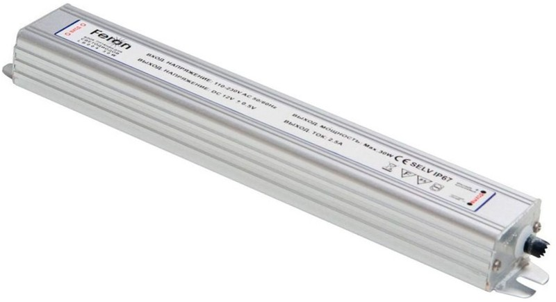 Драйвер LED,30w,12v,IP67 Feron (LB004) Feron цена